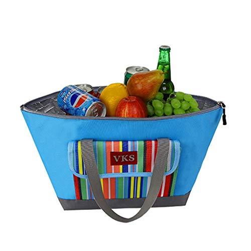kaige Dichtung Kühlungspaket 14L Große Kapazität Lebensmittel und Medizin Kalt Aufbewahrungstasche EIS Pack Auto Isolierungspaket Schöne (Farbe: blau) WKY (Color : Blue)