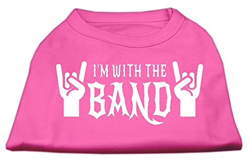 Mirage met Band Screen Print Shirt, Small, Helder Roze