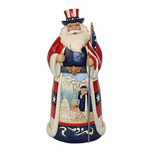 Enesco Jim Shore Heartwood Creek America Santa Around The World Figurine, 7.1', Multicolor
