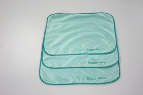 TUPPERWARE FaserPro Durchblick T18 Brillenputztuch Putztuch Brille türkis (3) 29740