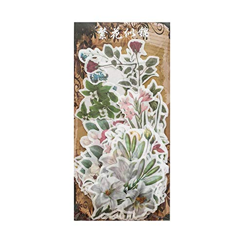 Holo Cute Pflanzenaufkleber Vintage Washi Dekoration Papier Aufkleber DIY Tagebuch Decorn Aufkleber Album Scrapbooking