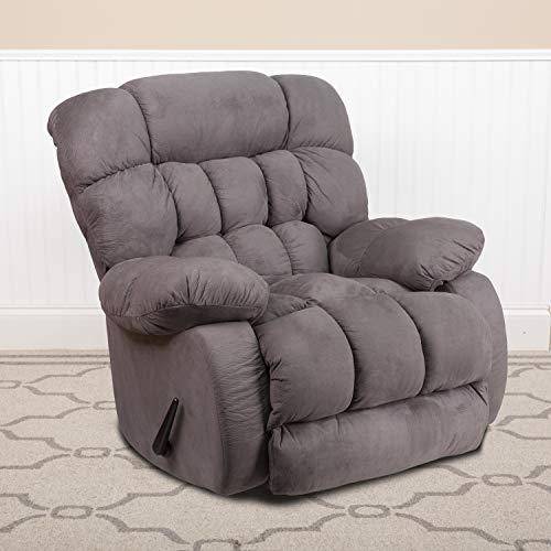 Flash Furniture Contemporary Softsuede Graphite Microfiber Rocker Recliner