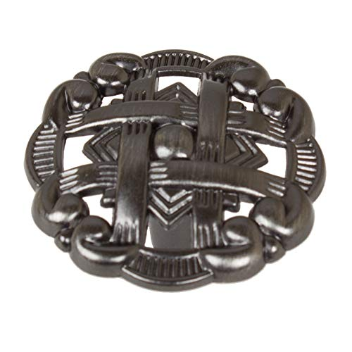 Unknown1 5-Pack 1-3/8' Brushed Pewter Celtic Medallion Cabinet Knobs Global Inspired Zinc Finish