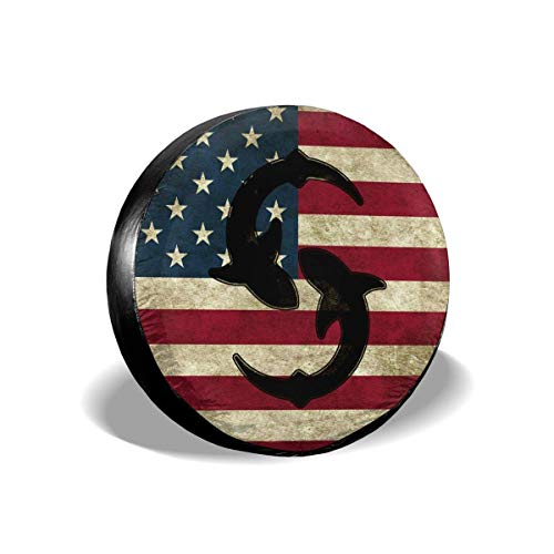 American Flag Sharks Cubierta de llanta de Repuesto Jeep Cubierta de Cubierta...