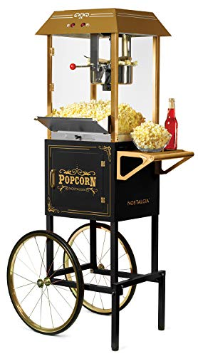 """Nostalgia Vintage 10-Ounce Professional Popcorn and Concession Cart 