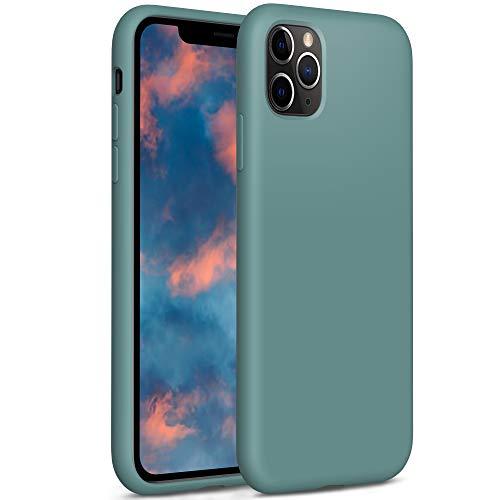 YATWIN Compatibile con Cover iPhone 11 Pro, Custodia per iPhone 11 Pro Silicone Liquido, Protezione Completa del Corpo con Fodera in Microfibra, Compatibile con iPhone 11 Pro 5,8'', Verde Pino