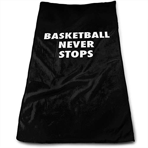 DDHHFJ Face Hand Towel Basketball Never Stops Bath Towel Multipurpose for Bathroom, Hotel, Gym and Spa