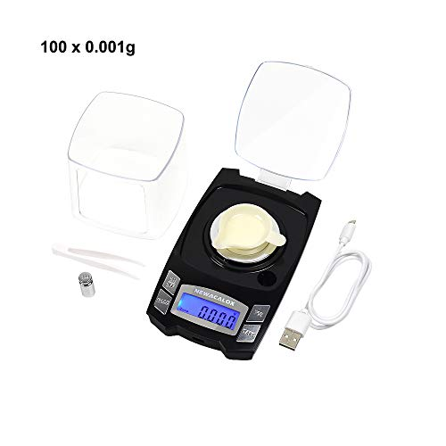 NEWACALOX Rechargeable Digital Milligram Scales