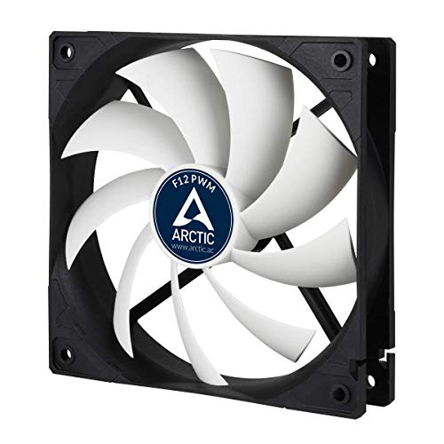 ARCTIC F12 PWM - 120 mm PWM Case Fan, PWM-Signal regulates Fan Speed,...