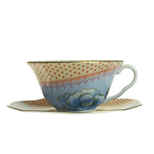 Wedgwood (ウェッジウッド) ハーレークイン バタフライブルーム ティーカップ&ソーサー ブルー [並行輸入品]
