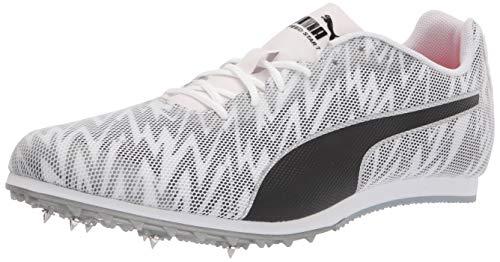 PUMA Men's Evospeed Star 7 Track and Field Shoe, White Black Silver, 7.5