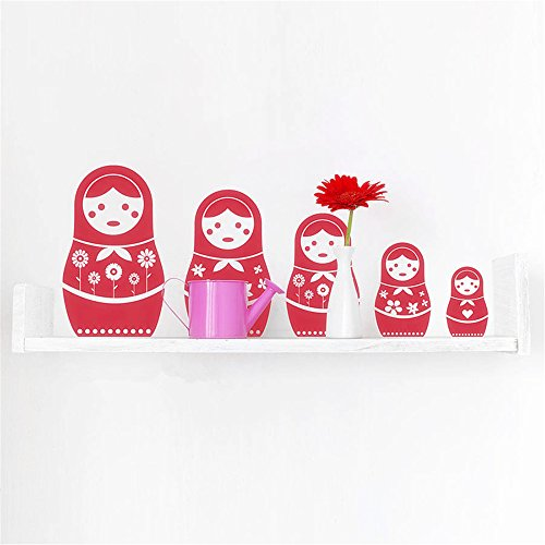 Stickers Muraux Vinyl Peel And Stick Mural Wall Sticker Decals Russian Doll For Living Room Chambre enfants Kids Room