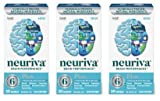 Fast-Acting Brain Supplement - NEURIVA Plus (30Count in a Bottle), Plus B6, B12 & Folic Acid, Supports 6 Indicators of Brain Performance: Focus, Memory, Learning, Accuracy, Concentration (Pack of 3)
