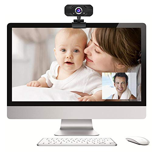 Farmer-W webcam voor pc met stereo-microfoon HD 720P voor computer, desktop, laptop, video, kantoor, thuis, Windows 7/8/10, USB 2.0, draaibare interface, digitale grafische opname.