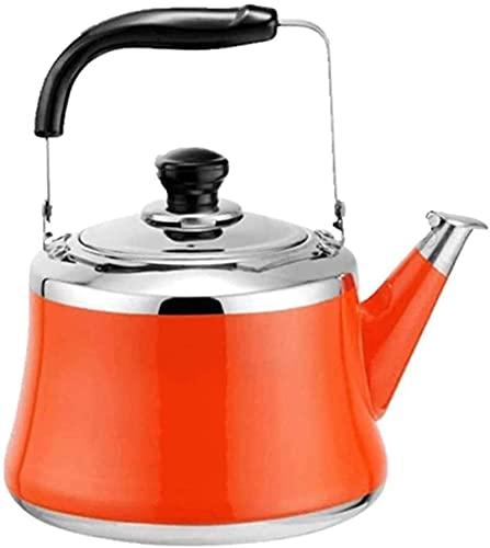 Hervidor para estufa Hervidor para té Tetera para estufa Hervidor de agua caliente de acero inoxidable con silbido -Finsh de espejo, mango plegable, rápido para hervir, teteras con silb