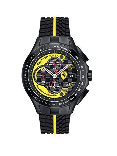 Ferrari 0830078 Race Day - Reloj analógico de pulsera para hombre (cuarzo, correa de silicona)
