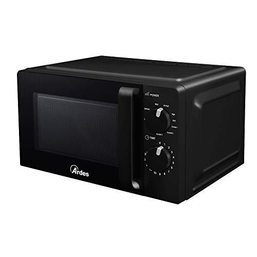 Ardes AR6520G WAVE G Horno microondas con grill de 20 litros, compacto, 9 funciones de cocción combinadas, 5 potencias regulables, plato giratorio y parrilla, temporizador, luz, 700 W, grill 900 W