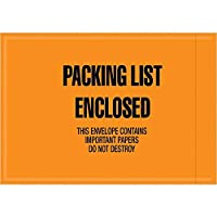 Top Pack Supply Mil-SpecPacking List Enclosed Envelopes 4 1/2 x 6 Orange (Pack of 1000) [並行輸入品]