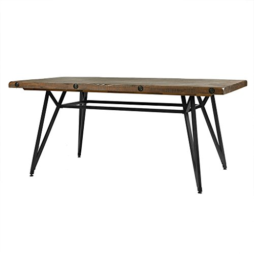 wood and metal dining table - 7