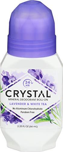 Crystal Essence Déodorant roll–on Parfum lavande/thé blanc 65 ml 2.25 oz.