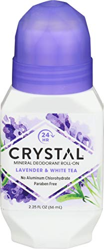 Crystal Mineral Deodorant Roll-On, Lavender & White Tea 2.25 oz