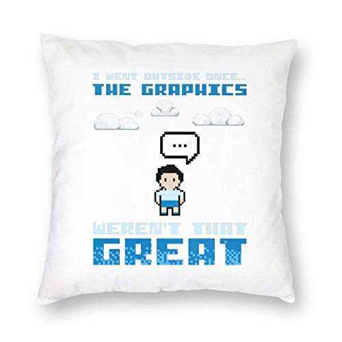 BK Creativity Pillow Covers,I Went Outside Once The Graphics Weren'T That Great Pillow Covers,Decorative Pillowcases For Comfort And Convenience In Travel,45x45cm
