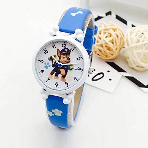 N-B Reloj Impermeable para niños Paw Patrol Reloj de Personajes de Dibujos Animados Reloj de Cuarzo para niños Niño niña Correa de Cuero Juguete