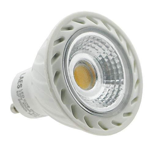 Laes 985344 Bombilla Dicroica COB LED GU10, 7 W, Blanco, 50 x 57 mm