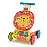 Labebe Baby Walkers, 3-in-1 Use as Push Along Toys, Yellow Lion Mobility Walker for 1-3 Years, Wooden Walker...