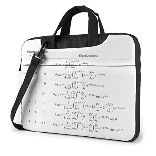 AOOEDM Maletín para portátil Funda para ordenador Funda para ordenador Fórmula matemática Maletín impermeable para hombro 13 14 15,6 pulgadas