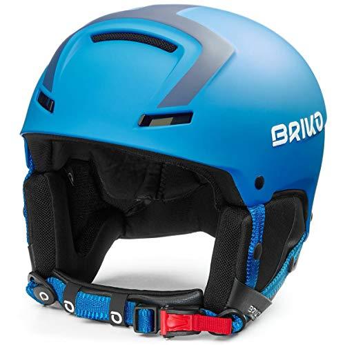 Briko Faito Casque de Ski/Snow, Unisexe pour Adultes, Bleu Mat, Taille L