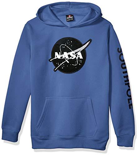 Southpole - Kids Boys NASA Collection Fleece Sweatshirt (Hoody, Crewneck), Sky Blue Big Logo, Small