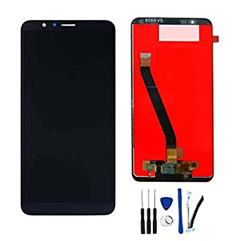 SOMEFUN LCD Display Screen Compatible with Huawei Honor 7X BND-L24 BND-L21 BND-L22 BND-L31 BND-L2 Digitizer Touch Glass Panel Replacement for Huawei Mate SE BND-L34 5.93   Black-with Honor Logo