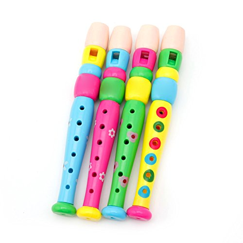 Lamdoo Niño Piccolo Flauta Instrumento Musical Aprendizaje temprano Juguete Educativo para niños Entrega al Azar