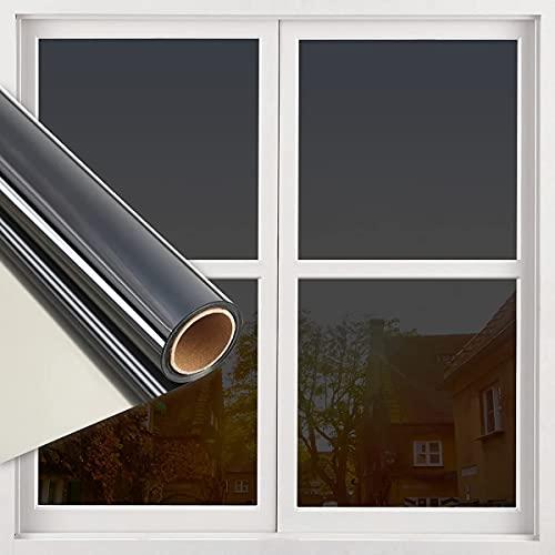 RMane Lámina autoadhesiva para ventana, lámina de espejo, protección solar, para interior,...