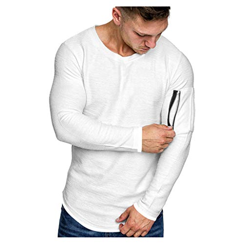 KPILP Herren Kapuzenpullover Hoodie Casual Langarmshirts Tops Pulli Herbst Winter Pullover Sweatshirt mit Rundhals Freizeit Jumper Basic Oberteile