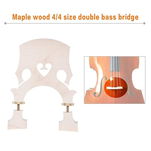 CHENTAOMAYAN Standard Maple Brücke Ersatzteil for 3/4 4/4 Kontrabass Adjustable Upright Double Bass-Brücke (Color : Size 1)