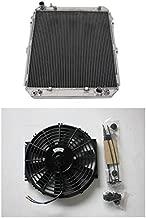 MONROE RACING U0355 3ROW Aluminum Radiator +16 inch fan for Toyota Hilux surf KZN130 1KZ-TE 3.0 TD 1993-1996