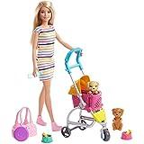 マテル バービー(Barbie) おせわあそび バービー ペットカートのおせわセット 【ドール&アクセサリー付き】【3歳~】 GHV92