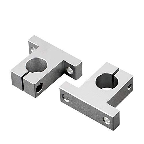 Rodamientos de Block, Linear eje óptico SK soporte vertical bastidor del cojinete de aleación de aluminio, soporte de la varilla pulido SK / 8mm - SK / 60mm (Size : SK 30mm)