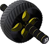 Sports Research Sweet Sweat Ab Wheel | Abdominal Exercise Wheel for Core Strength Training | with...