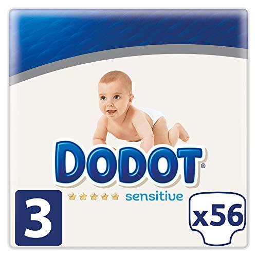 Dodot Sensitive Pañales Talla 3 - 56 Pañales, 6 - 10 kg