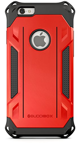 BUDDIBOX iPhone 6s Case, [Corner Series] – Heavy Duty Protection from Falls – Also Compatible with Apple iPhone 6 – [Red]