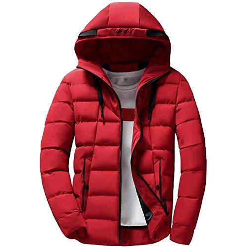 UFODB Herren Daunenjacke Männer Hooded Puffer Jacket Herbst Winter Jacke Sportjacke Hoodie Steppjacke übergangsjacke Winterjacke Mantel Kapuzenjacke Tops