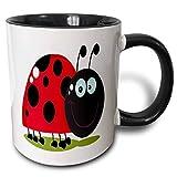 Taza Desayuno, Originales Tazas De Cerámica Multifuncion Tazas Café,Happy Little Lady Bug Animal Naturaleza Dibujos...