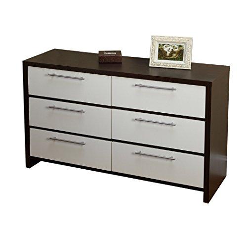 white and espresso dresser - 3