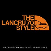 ランドクルーザー70(ランクル70)ステッカー THE LANCRU 80 STYLE【カッティングシート】パロディ シール(12色から選べます) (オレンジ)