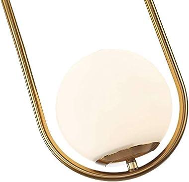 Sinoman Pendant Lighting Modern Style Chandelier ,One Light Kitchen Lamp,Frosted Glass Globe Lampshade Pendant Light Indoor H