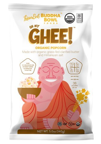 Lesser Evil - Buddha Bowl - Oh My Ghee!- Popcorn Three 5oz Bags- Organic (3)