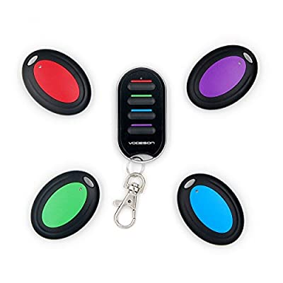 Vodeson Wireless RF Wallet Locator Key Finder, Remote, Wallet, Pet, 1 Portable Transmitter, 4 Receivers. from Vodeson